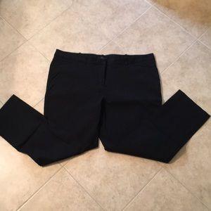 Worthington 18 Black Stretch Slim Fit Ankle Pants
